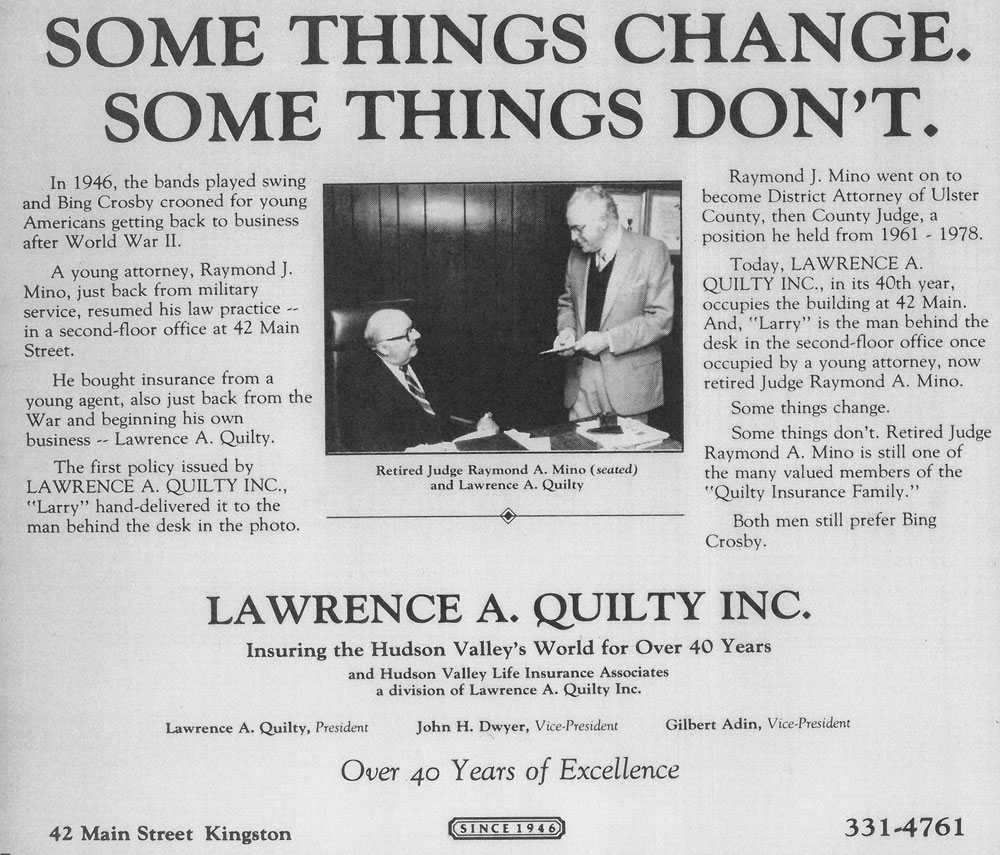 an old newspaper that reads: Some Things Change, Some Things Don't